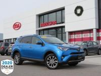 2016 Toyota RAV4 Limited Blue AWD, Black w/Fabric Seat