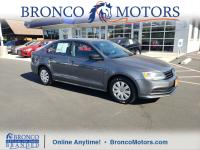 Gray 2016 Volkswagen Jetta 1.4T S FWD 6-Speed Automatic
