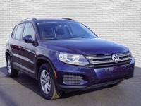Blue 2016 Volkswagen Tiguan SE 4Motion AWD 6-Speed
