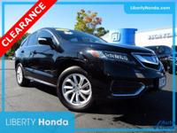 Black 2017 Acura RDX SH-AWD AWD 6-Speed Automatic 3.5L