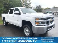 CARFAX One-Owner. White 2017 Chevrolet Silverado 2500HD