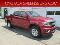 Red Hot 2017 Chevrolet Colorado LT 4WD 8-Speed