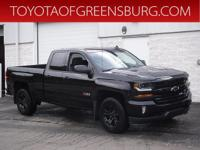 Black 2017 Chevrolet Silverado 1500 LT LT2 4WD 6-Speed