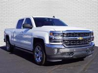 White 2017 Chevrolet Silverado 1500 LTZ 4WD 8-Speed