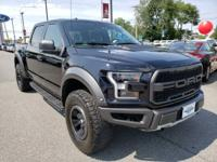 Black 2017 Ford F-150 Raptor 4WD 10-Speed Automatic