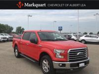 CARFAX One-Owner. Red 2017 Ford F-150 XLT 4WD 6-Speed