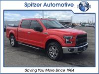 2017 Ford F-150 XLT Red BACKUP CAMERA, 4X4, CARFAX 1