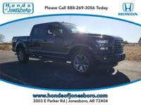 Clean CARFAX. Black 2017 Ford F-150 XLT 4WD 6-Speed
