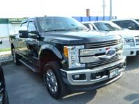 CARFAX One-Owner. Shadow Black 2017 Ford F-250SD Lariat