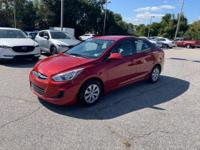 CARFAX One-Owner. Pulse Red 2017 Hyundai Accent SE FWD
