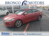 Scarlet Red 2017 Hyundai Elantra Limited FWD 6-Speed