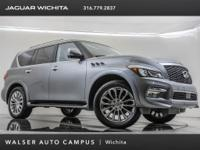 2017 INFINITI QX80, located at Jaguar of Wichita.