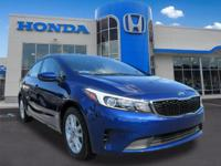 Clean CARFAX. Deep Sea Blue 2017 Kia Forte LX FWD