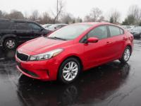Currant Red 2017 Kia Forte S FWD 6-Speed Automatic 2.0L