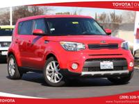 Clean CARFAX. Inferno Red 2017 Kia Soul Plus FWD 6