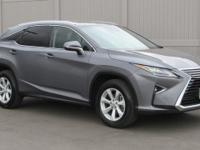 2017 RX350 AWD SUV in Gray with black leather. 1-owner