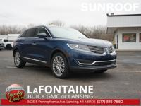 Midnight Sapphire Blue Metallic 2017 Lincoln MKX 4D