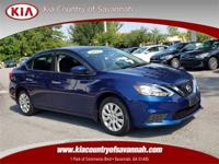 Deep Blue Pearl 2017 Nissan Sentra S FWD CVT with