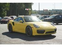 2017 Porsche 911 2D Coupe Turbo Racing Yellow AWD