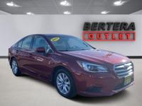 2017 Subaru Legacy Venetian Red Pearl 2.5i Rear Backup