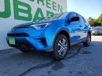 CARFAX One-Owner. Electric Storm Blue 2017 Toyota RAV4