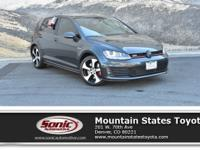 Come see this 2017 Volkswagen Golf GTI SE. Its Manual