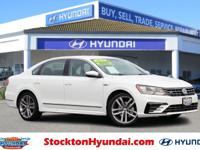 CARFAX One-Owner. Pure White 2017 Volkswagen Passat