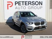 Our 2018 BMW X3 xDrive30i is happily shown in Glacier
