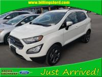 Certified. Diamond White 2018 Ford EcoSport SES 4WD