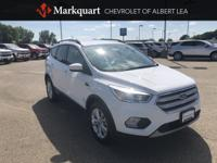 One-Owner Clean CARFAX. White 2018 Ford Escape SE 4WD