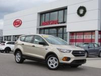 2018 Ford Escape S White Gold Metallic ABS brakes,
