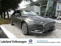 2018 FORD FUSION TITANIUM. Clean CARFAX. Gray 2018 Ford