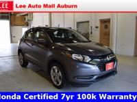 2018 Honda HR-V LX Gray Bluetooth, Hands free calling,