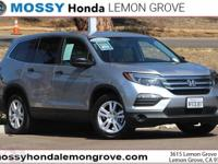 Certified. Lunar 2018 Honda Pilot LX AWD 6-Speed