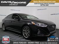 Black Cloth.CARFAX One-Owner.2018 Hyundai Sonata Sport