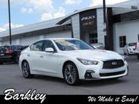 White 2018 INFINITI Q50 3.0t LUXE AWD 7-Speed Automatic