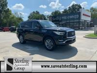 CARFAX 1-Owner. QX80 trim, Mineral Black exterior and