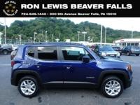 CARFAX One-Owner. Clean CARFAX. Blue 2018 Jeep Renegade