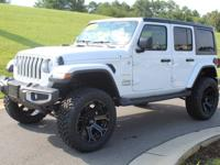 Clean CARFAX. Bright White Clearcoat 2018 Jeep Wrangler