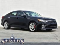 2018 Kia Optima SX Turbo Ebony Black CARFAX One-Owner.