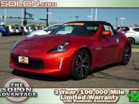 2018 Nissan 370Z Touring Sport Convertible RWD 7-Speed