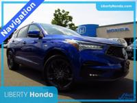 Apex Blue Pearl 2019 Acura RDX A-Spec Package SH-AWD