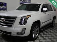 CARFAX One-Owner. Crystal White Tricoat 2019 Cadillac