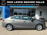 Clean CARFAX. Pepperdust Metallic 2019 Chevrolet Cruze
