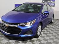 Clean CARFAX. Blue 2019 Chevrolet Cruze LT FWD 6-Speed