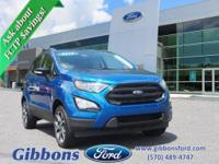 Clean CARFAX. 2019 Ford EcoSport SES Well equipped