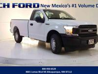 Clean CARFAX. Oxford White 2019 Ford F-150 XL RWD
