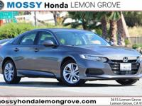 Certified. Modern Steel 2019 Honda Accord LX FWD CVT