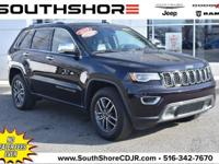 Clean CARFAX. 2019 Jeep Grand Cherokee Limited Sangria
