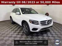 Clean CARFAX. Polar White 2019 Mercedes-Benz GLC 4MATIC